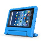 "Fire 7 2015 Case, YSSHUI Kids Children EVA Case with Carrying Handle Stand For Amazon Fire 7 Tablet (will only fit Fire 7"" 2015 release)-Blue"