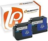 Bubprint 2 Schriftbänder kompatibel für Brother M-K221 M-K221BZ M K221 MK221 MK 221 für P-Touch 110 55 60 65 75 80 85 90 BB4 M95 Schwarz auf Weiß 9mm