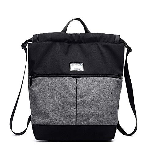 RJW Portable/Schulter Herren Rucksack Handtaschen Lässig Büro Reise Notebook Rucksack (kann 14-Zoll-Computer Platziert Werden) Robust (Farbe : Black Gray) (Yoga-matten Männer Für Dick)