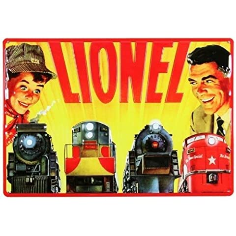 Lionel Train Set Tin Sign by Ande Rooney