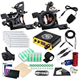Tattoo Kit 2 Tattoo Machines Coil Machine Guns Power Supply Disposable Needles for Tattoo Artist