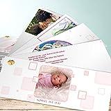 Babykarten Geburt, Orliborli 200 Karten, Kartenfächer 210x80 inkl. weiße Umschläge, Rot