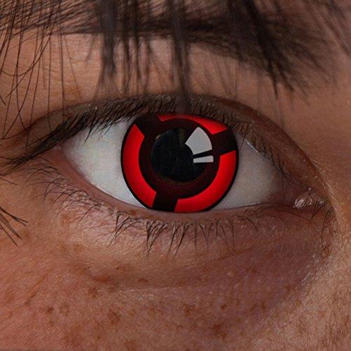 aricona Farblinsen Sharingan Kontaktlinse Elegance -Deckende,farbige Jahreslinsen für dunkle und helle Augenfarben ohne Stärke,Farblinsen für Cosplay,Karneval,Motto-Partys und Halloween Kostüme (Big Hero 6 Figur Kostüme)
