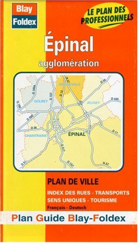 Plan de ville : Épinal (avec un index) par Plans Blay Foldex