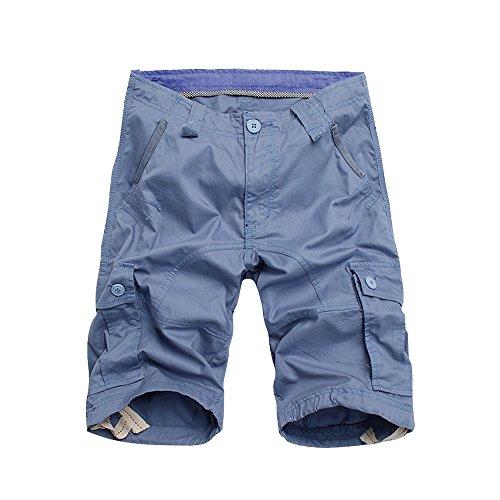 BicRad Herren Cargo Shorts Baumwolle Hellblau 44 (Größe 44 Herren)