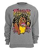 Trailerpark Sweater Biber, Farbe:Grau, Größe:XXL