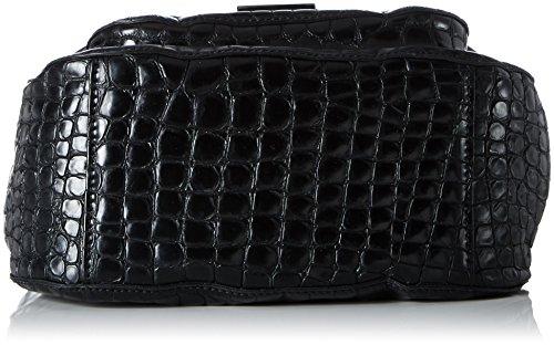 Caterina Lucchi L7086 AI 1702, Borsa a Tracolla Donna, 11x21x29 cm Nero (Black)