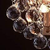 Kleine schicke Wandleuchte 1-flammig barock modern bronzefarbiges Metall Kristallkugeln klar indirektes sanftes Licht für Wohnzimmer Schlafzimmer Diele Flur Halle Restaurant exkl.1*60W E14 - 7
