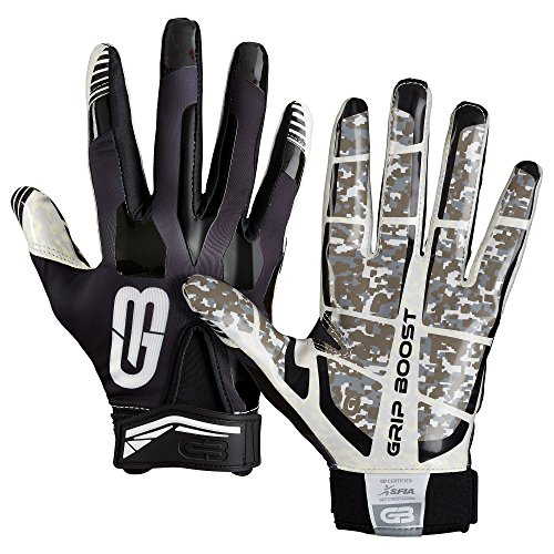 GRIP BOOST Stealth Pro Elite 2018 American Football Receiver Handschuhe - schwarz Gr. S