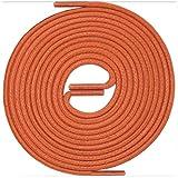 LACCICO Finest Waxed Laces Durchmesser 2 mm Runde Dünne Elegante Gewachste Schnürsenkel Farbe: Orange Länge: 150 cm