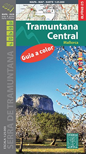 Tramuntana Central, mapa excursionista. Escala 1:25.000. Editorial Alpina. Español/Deutsch/English/Català