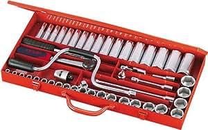 """Sam outillage - 75-SH49A - Coffret 1/2"""" de 49 outils en mm"""
