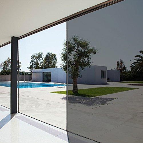 Lifetree Spiegelfolie Sonnenschutzfolie für Fenster Tönungsfolie Selbstklebend Braun 60×200cm