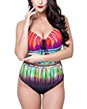 Damen Casual Badeanzug Große Größen Bikini Für Große Oberweite Stahlstütze Schwarz 54