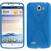 Funda de silicona para Huawei Ascend G730 - X-Style azul - Cover PhoneNatic Cubierta + protector de pantalla
