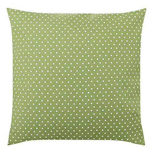 Tischdeckenshop24 Kissenbezug Polka 2-TLG, grün, Moderne Kissenhülle mit Punkten für das ganze Jahr, für Kissen in 40x40 cm