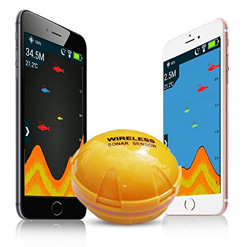 TOOGOO Handy Fischfinder Wireless Sonar Fish Finder Tiefe Sea Lake Fish erkennen iOS Android App Findfish Smart Sonar Echolot Tiefe Finder
