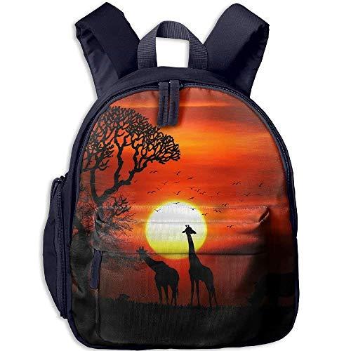 Kindergarten Rucksack afrikanische Wilde Tiere im Sonnenuntergang Kinder Schultasche