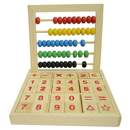 HugeStore - Soroban de Madera para Escritorio de Abacus para niños con...