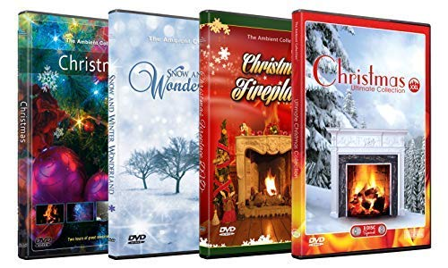Christmas DVD Supersale Collection - 4 Disc Set of Advent Christmas HD Videos and Winter Wonderland
