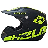 WHL Unisex Motorradrennen Für Vier Jahreszeiten, Off-Road-Helm Mit Halber Abdeckung,Yellow,XL
