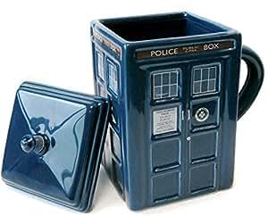 Doctor Who Tardis Mug with Lid, DR87