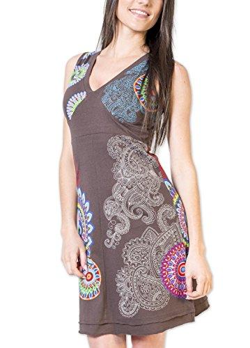 Coton Du Monde - Robe KELINA Gris Multicolore