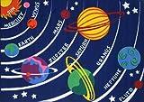 LA Rug Solar System Rug 5'3 x7'6