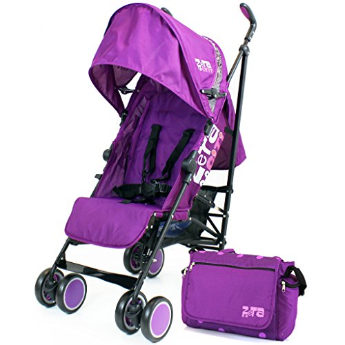 Zeta Citi Stroller Buggy Pushchair - Plum Complete With Bag