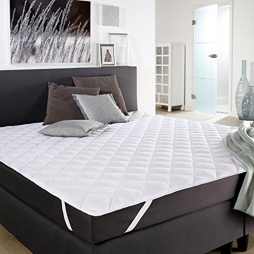 PROHEIM Microfaser Matratzen-Auflage 180 x 200 cm Matratzen-Schoner Matratze Unterbett Auflage Topper bei 60 °C maschinenwaschbar