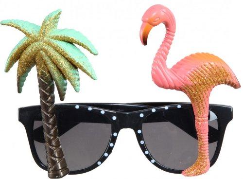 SALE Brille Hawaii, Palme & Flamingo