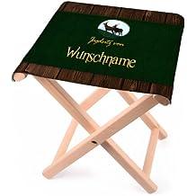 Lustige Apotheke Klapphocker für Jäger - Jagdsitz von… - mit Wunschname aus Holz