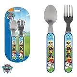 Kids Paw Patrol Metal and Plastic Cutlery Set
