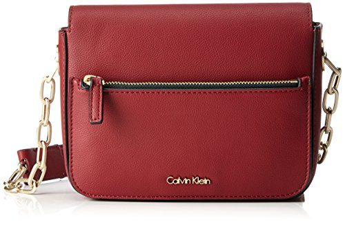 Calvin Klein Damen Night Out Small Shoulder Bag Umhängetasche, 7x15x21 cm, Rot