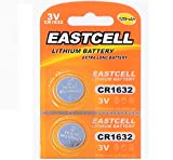 EASTCELL 2 x CR1632 3V Lithium Knopfzelle 120 mAh (1 Blistercard a 2 Batterien) Markenware