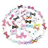 CanVivi Haarspangen Mädchen Kinder Schleife Set 50 Stück Haarclips Haarklamme Haarspangen für Baby Kleinkind Kinder Mädchen mit Zufällige Farben