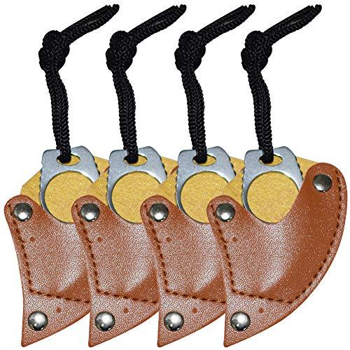 BESTZY Stahl Finger Klaue Messer Haken Fixed Blade Messer Werkzeug für Camping Jagd Outdoor(4 Pack)