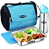 Stainless Steel Bento Lunch Box With Water Bottle And Lunch Bag