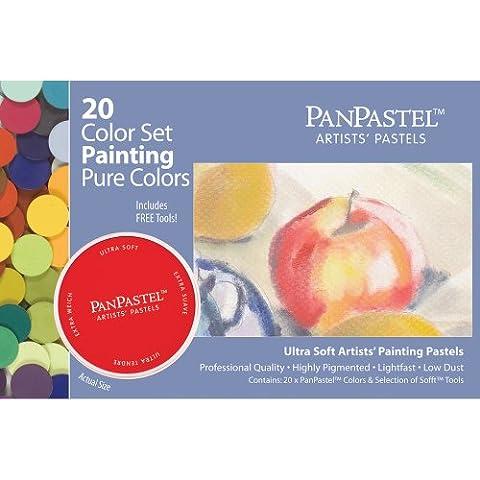 PanPastel Pure Colours Pastels pour artistes Set de 20 couleurs (Import Royaume Uni)