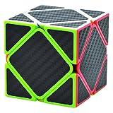 Maomaoyu Skewb Speed Cube de Vitesse Lisse Magique Puzzle Twist Magic Cube Fibre de Carbone Autocollant Cadeau de Vacances pour Enfants Adultes Noir