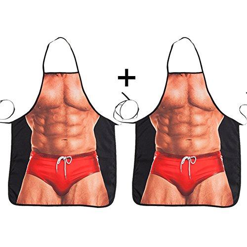 ABCTen 2 Paires Sexy Style Homme Musclé BBQ Tablier de Cuisine