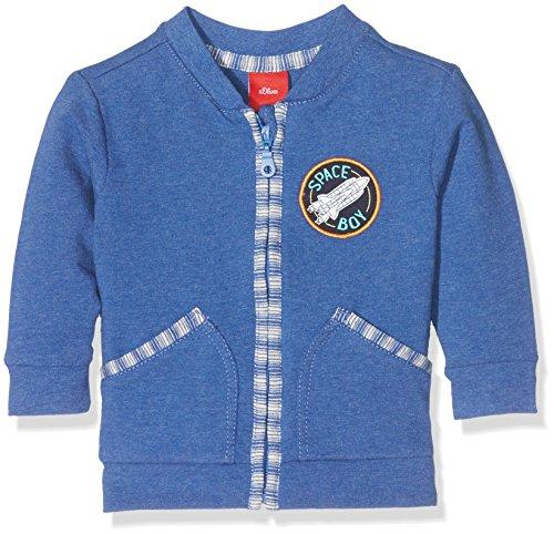 s.Oliver Baby-Jungen Sweatshirt-Jacke, Blau (Blue Melange 55w0), 86
