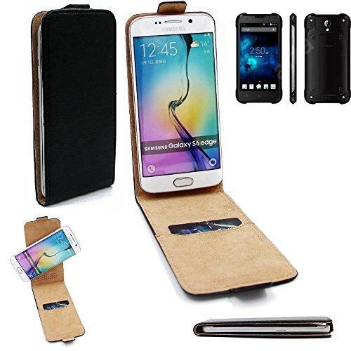 K-S-Trade Für Blackview BV5000 Flipstyle Schutz Hülle 360° Smartphone Tasche, schwarz, Case Flip Cover für Blackview BV5000