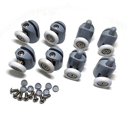 51iVEF66JCL - Rodamientos para mampara de ducha, 8 unidades, piezas de repuesto de 25mm de diámetro