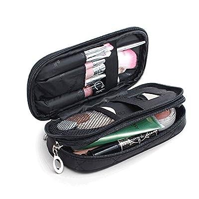 MLMSY Makeup Bag for Women with Mirror Beauty Makeup Brush Bags Travel Kit Organizer Cosmetic Bag Professional Multifunctional 2 layer Organiser - inexpensive UK light store.