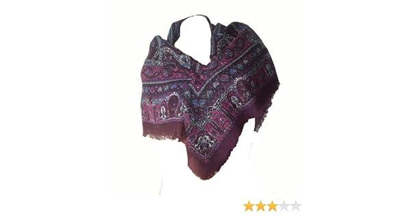 0cc163887251 itendance Foulard carré Etole écharpe chale femme 100% laine violet prune  fushia - idée cadeau  Amazon.fr  Vêtements et accessoires