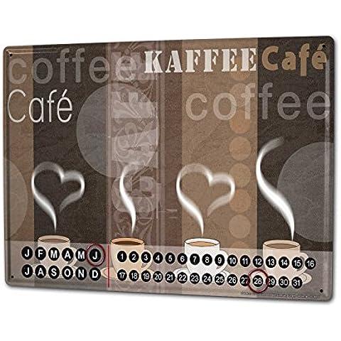 Calendario perpetuo Fun Cucina Strassek tazze di caffè Magnetico