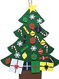 3ft Albero di Natale d'attaccatura a muro di feltro di DIY Regalo di Natale, rimovibile Natale per albero da appendere alla parete decorazione