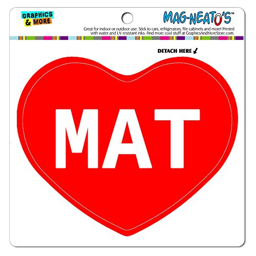 Graphics and More Mag-Neato 's-TM Auto Kühlschrank Vinyl Magnet I love Herz Namen Stecker M Mary, Mat (Mag Mat)