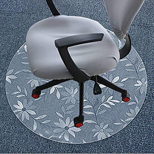 Xiao Jian- Stuhlmatten Bürostuhl Matte PVC Rutschfester Harter Bodenschutz   Runde Gänseblümchenart   Durchmesser 80/90/100/120 cm   1,5 mm dick Teppich (größe : 80cm) -